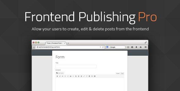 Frontend Publishing Pro