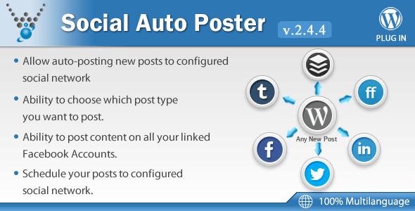 Social Auto Poster – Codecanyon WordPress Social Network Auto-Posting Plugin
